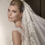 Peinados con velos y mantillas de novias-2013