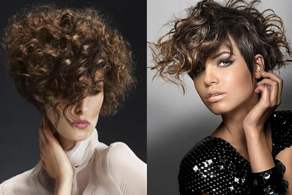 Fotos peinados pelo corto rizado
